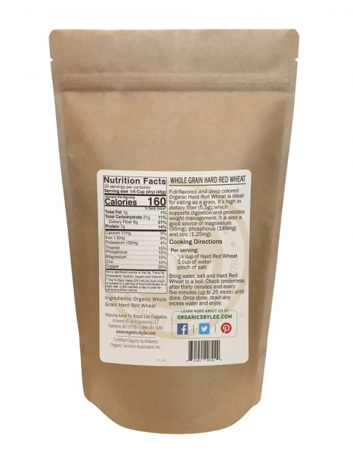 Hard Red Wheat Nutrition Facts from Royal Lee Organics