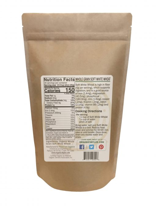 Soft White Wheat Nutrition Facts from Royal Lee Organics
